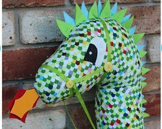 Dragon Hobby Horse Pattern @ maggiejpdfpatte on Etsy