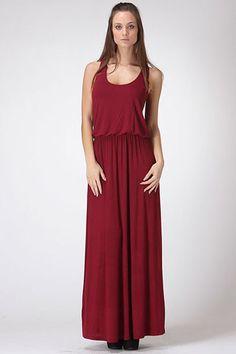 Maroon Maxi Dress | Jack & Monroe Boutique | Free Shipping!
