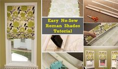 Easy DIY Roman Shades | Home Design, Garden & Architecture Blog Magazine
