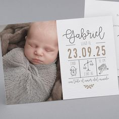 Baby Birth Announcement Ideas Thank You Cards Product Stocking Stuffers For Adults, Best Stocking Stuffers, Birth Announcement Boy, Announcement Cards, Baby Design, Faire Part Nature, Baby Stocking, Baby Journal, Money Saving Mom