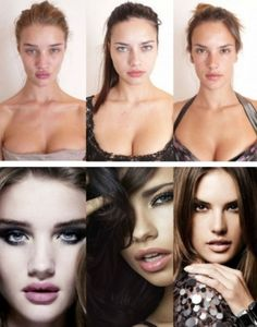 """victoria secret """"angels"""" without makeup and photoshop - once again we should feel good about ourselves!"""