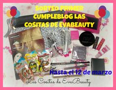 Segundo Sorteo por mi Primer Cumpleblog. Anímate y participa. Internacional. #lascositasdeevabeauty #sorteoblog #sorteo #beautyblogger #blogger #maquillaje #makeup #belleza #beauty #sorteocumpleblog