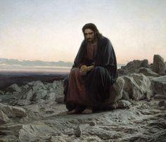광야의 예수  by Kramskoy