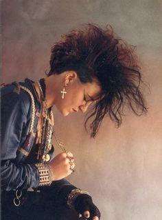 80's Absolutely dressed like this! Cross Earrings, denim jacket!