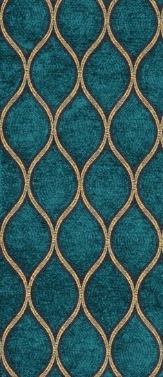 Iman Malta Peacock Fabric dark teal and gold fabric