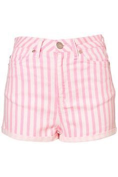just what i need, a pair of high-wasted pink striped jean shorts!