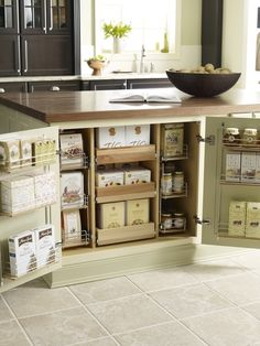 island pantry!  Love the storage!