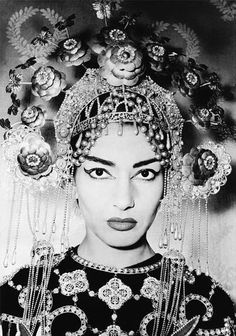 #Callas as #Turandot Once I joked to a friend when she asked about this photo on my bookshelf that she's my grandma.  And she believed.