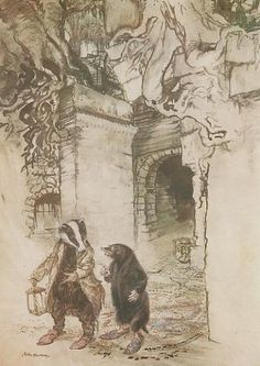 Crossing down the hall, they passed down one of the principal tunnels - The Wind In The Willows By Kenneth Grahame, 1940