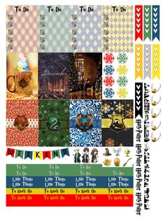 Christmas Harry Potter: Free THP (the happy planner by MAMBI) sticker. Free printable sticker layout may be subject to copyright not intended for retail; personal use only