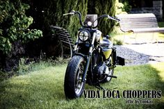 Sportster Harley Sienne Designed by Vida Loca Choppers in 2013 Kustom, Bobber, Harley Davidson, Motorcycle, Choppers, Vehicles, Design, Life, Siena