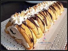 TRONCHETTO SEMIFREDDO CUORE DI PANNA - con NUTELLA e granella di nocciole Fancy Desserts, Köstliche Desserts, Great Desserts, Delicious Desserts, Burritos, Tolle Desserts, Budget Freezer Meals, Candied Nuts, Best Italian Recipes