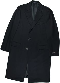 ERMENEGILDO ZEGNA NAVY MEN'S WOOL OVERCOAT-52/42-MADE IN ITALY #ERMENEGILDOZEGNA #OVERCOAT