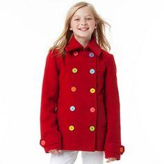Red Peacoat #littlemissmatched #tweenstyle