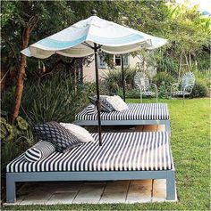 Great outdoor bed idea!