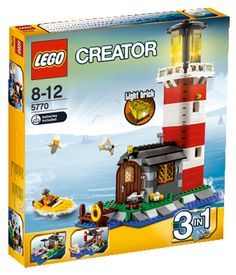 LEGO Creator - Lighthouse Island and thousands more of the very best toys at Fat Brain Toys. Keep the harbor safe with the lighthouse! Lego Creator Sets, Lego Creator House, The Creator, Lego City, Legos, Lego Tree House, Lego Gingerbread House, Modele Lego, Lego For Sale