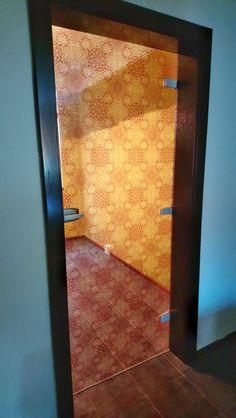Digitally printed glass door