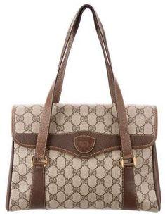 bd61883a4e445d Gucci Vintage GG Plus Flap Bag Gucci Shoulder Bag, Shoulder Strap, Gucci  Designer,