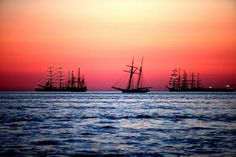 Tall ships line up Friday morning to get ready for OpSail 2012. (Sangjib Min / June 8, 2012)