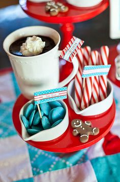 This year, we designed a North Pole inspired collection that is perfect for adding style to any Christmas party or gift, but also has elements perfectly tailored for a Cookie Exchange or baking party. Merry Christmas, Christmas Tea, Christmas Baking, Christmas Holidays, Christmas Parties, Winter Parties, Xmas Party, Deck The Halls, Cocoa Party