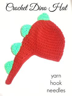 Do you have a dino lover in your family? Then you will want to check out this awesome, FREE crochet dinosaur hat! Pattern includes several size options too! Crochet Dinosaur Hat, Crochet Dinosaur Patterns, Crochet Kids Hats, Crochet Patterns, Dinosaur Dinosaur, Free Crochet, Crochet Bookmarks, Free Pattern, Violets