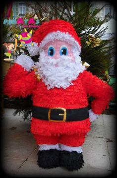 Christmas Party Ideas - Christmas Decorations - Piñata Santa Claus  Piñatas en France -  Suivez - nous sur notre page:  https://www.facebook.com/pinatasenfrance/