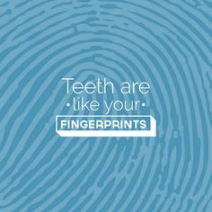 are as unique as fingerprints! Not even identical twins have the same set!TEETH are as unique as fingerprints! Not even identical twins have the same set! Dental Facts, Dental Humor, Dental Hygiene, Oral Health, Dental Health, How Much Are Braces, Dentist Near Me, Teeth Dentist, Smile Care