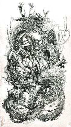 DZO est un artiste autodidacte et designer freelance du sud de la France, diplômé de l'École des Beaux-Arts de Toulouse. Cette série d'illustration intitulé Draw'Ink flirte avec l'alchimie, la sorc...