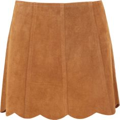 Joie Beale Suede Mini Skirt ($140) ❤ liked on Polyvore featuring skirts, mini skirts, bottoms, saias, tan, tan skirt, scallop hem skirt, joie, tan mini skirt and short mini skirts