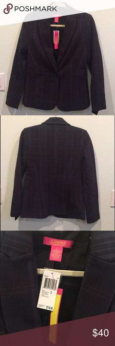 Catherine Catherine Malandrino Jacket Beautiful blazer! The fabric is a plaid with silk-like lining. Great look with jeans or over a dress for work. Catherine Malandrino Jackets & Coats Blazers