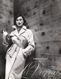 La Vigna Vicuna Trench Coat - 1954 | Couture Allure Vintage Fashion | Bloglovin'