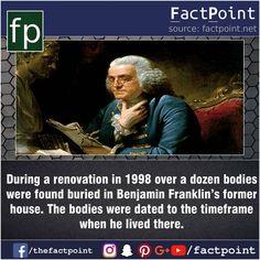 I always knew Benjamin Franklin was sketchy af.