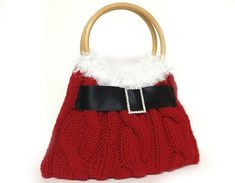 Red Christmas purse hand knitted red Santa purse Christmas gift or for you NEW SEASON. Christmas Purse, Christmas Knitting, Red Christmas, Christmas Crafts, Xmas, Christmas Ideas, Santa Crafts, Christmas Time, Loom Knitting