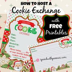 How to Host a Christmas Cookie Exchange Party - Free Printables