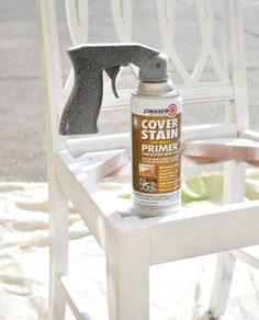 Zinnser Cover Stain.   spray primer for furniture