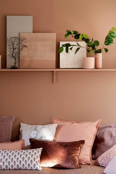 Terra Cotta, a very natural land Interior Inspiration, Room Inspiration, Bedroom Wall, Bedroom Decor, Bedroom Colors, Living Room Colors, New Room, Home And Living, Ikea