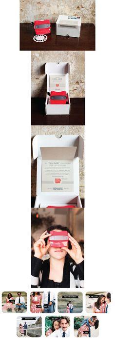 Invitación original para boda.  Fun wedding invitation.