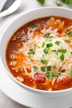 Lasagna Soup - this is one of my family's favorite soups! It's become a regular for us. Step by step photos included in post.