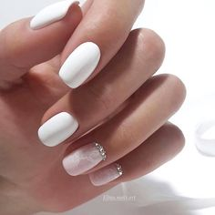 47 Pretty mix and match pink nail art designs - nail art design ideas to try ,mix and match pink and glitter nail art ideas #nails #nailart #manicure #pinknail #glitternails White and pink nail art design #nails