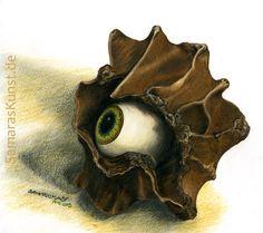 <p>Ich bin ganz Auge, Polychromos- Holzfarbstifte</p>