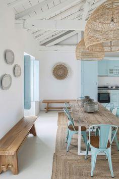 Country blue, A holiday home in Portugal by interior designer Ligia Casanova Decor, House Design, Interior, Beach House Interior, House Styles, Home Decor, House Interior, Home Deco, Mediterranean Decor