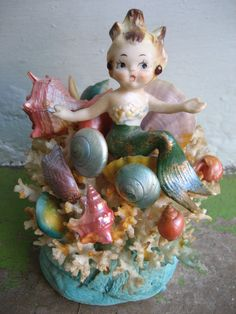 The Most Magical 1950's Mermaid Figurine  Real by rudysroundup, $125.00