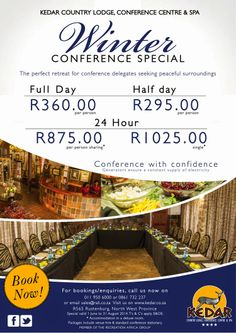 Host your next conference at Kedar Country Lodge! 