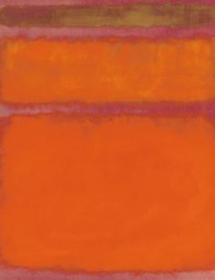 Mark Rothko, Orange, Red, Yellow, 1961. Oil on canvas, 93 x 81 1/4 in. Estimate:35,000,000-45,000,000. Sold for: 86.9m. Photo: Christie's Images Ltd 2012.