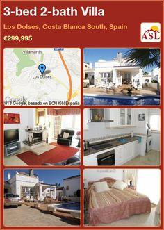 3-bed 2-bath Villa in Los Dolses, Costa Blanca South, Spain ►€299,995 #PropertyForSaleInSpain