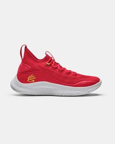 Curry Flow 8 Basketball Shoes, Red Top Basketball Shoes, Volleyball Shoes, Red Shoes, Me Too Shoes, Baskets, Sneakers Fashion, Sneakers Nike, Curry Shoes, Running Shops