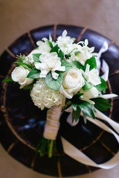 Ivory Gardenia, Roses and Hydrangea Bouquet