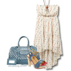 A fashion look from May 2012 featuring robes courtes de cocktail, chaussures à plate-forme et genuine leather handbags. Browse and shop related looks.
