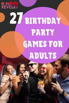 Birthday party games for adults are mood booster and make the birthday more exciting. If you want to add some silliness to your birthday party, then these birthday party games for adults are for you. They're hilarious and fun and will have everyone laughing out loud! Check out this pin for interesting ideas on how to make your birthday unforgettable!  #birthdayparty #adultgames #birthdaygames #birthday #fungames #partygames 27th Birthday, Birthday Songs, Adult Birthday Party, Birthday Party Games, It's Your Birthday, Birthday Party Ideas For Adults, Adult Party Games, Adult Games, Funny Would You Rather