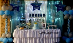 We Love You to The Moon and Back Baby Shower by Mariposa Event Decor at https://www.facebook.com/#!/mariposaeventdecor?fref=ts